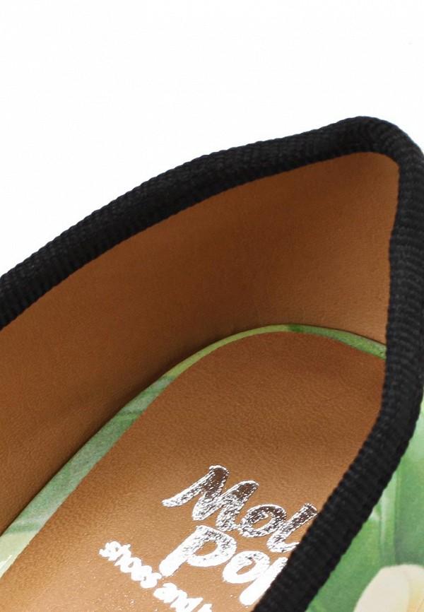 фото Балетки женские Mol&Pop MP001AWAAD16, зеленые/цветные