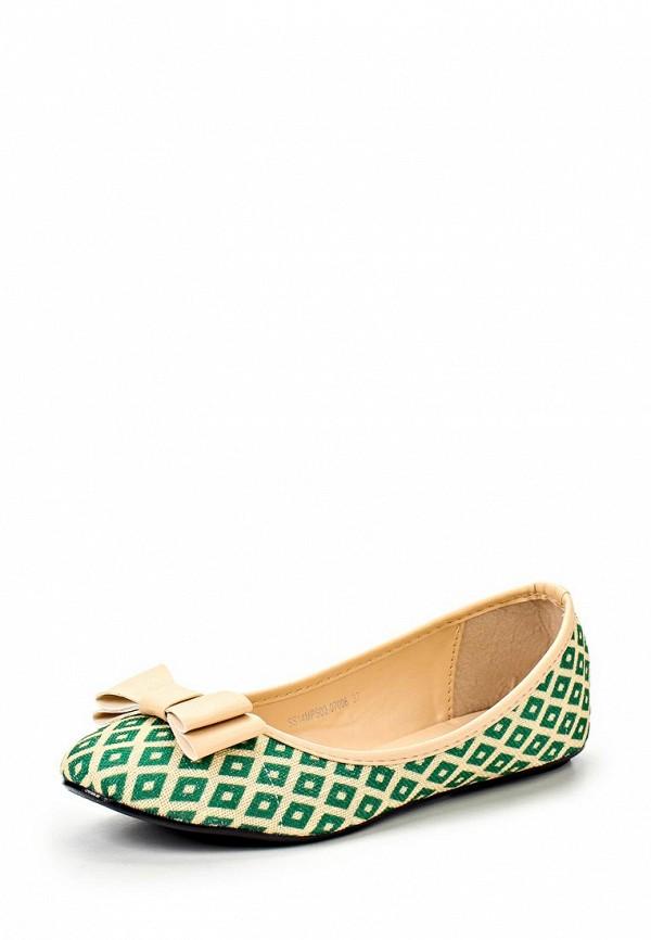 фото Балетки женские Mol&Pop MP001AWAAD80, зеленые/мультицвет