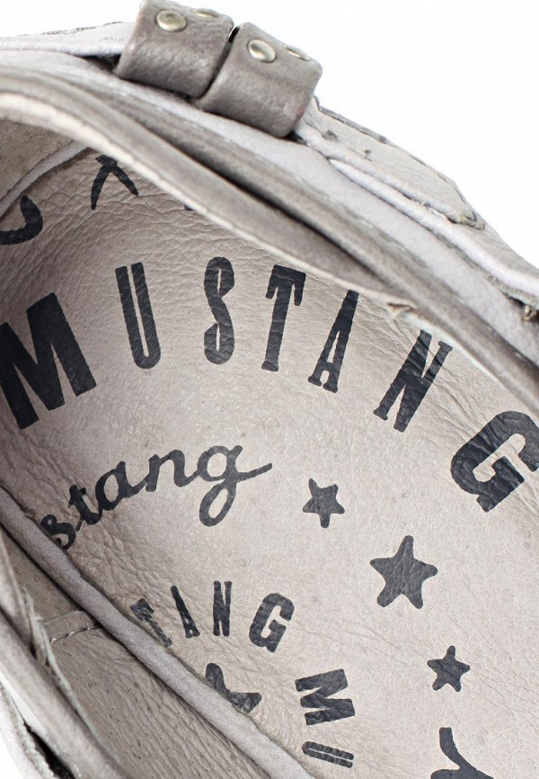фото Туфли на толстом каблуке Mustang MU454AWARB98, серебристые