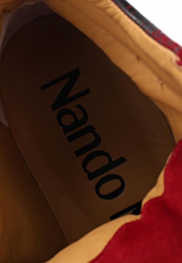 фото Ботильоны на танкетке Nando Muzi NA008AWBHK63, черно-красные