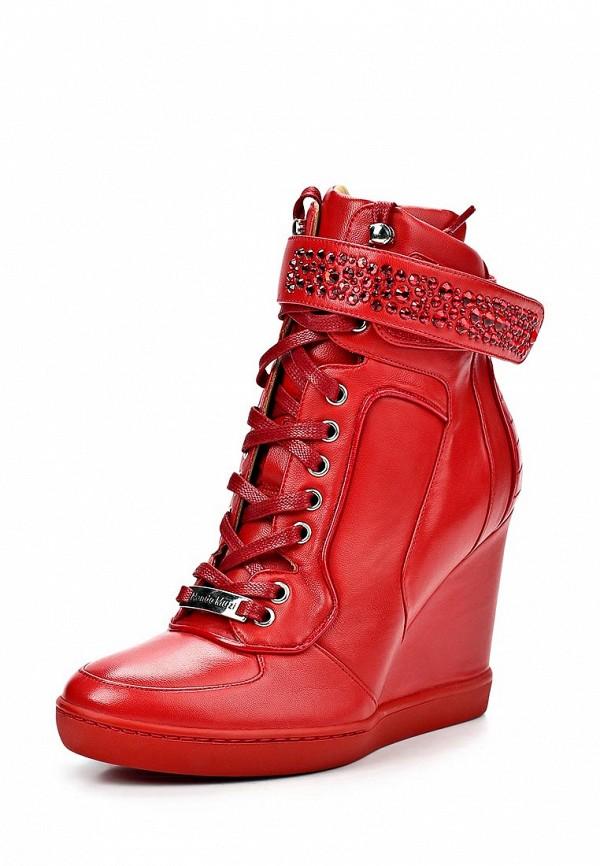 a6174aed62e8 Кеды женские на танкетке Nando Muzi NA008AWBHK66, красные кожаные