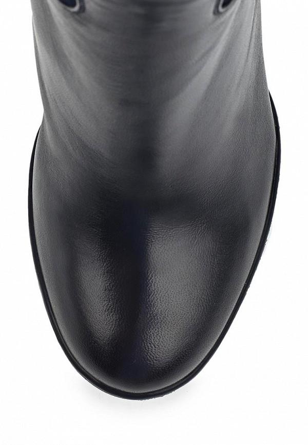 фото Сапоги женские на танкетке Nando Muzi NA008AWBHL11, сине-черные (кожа)