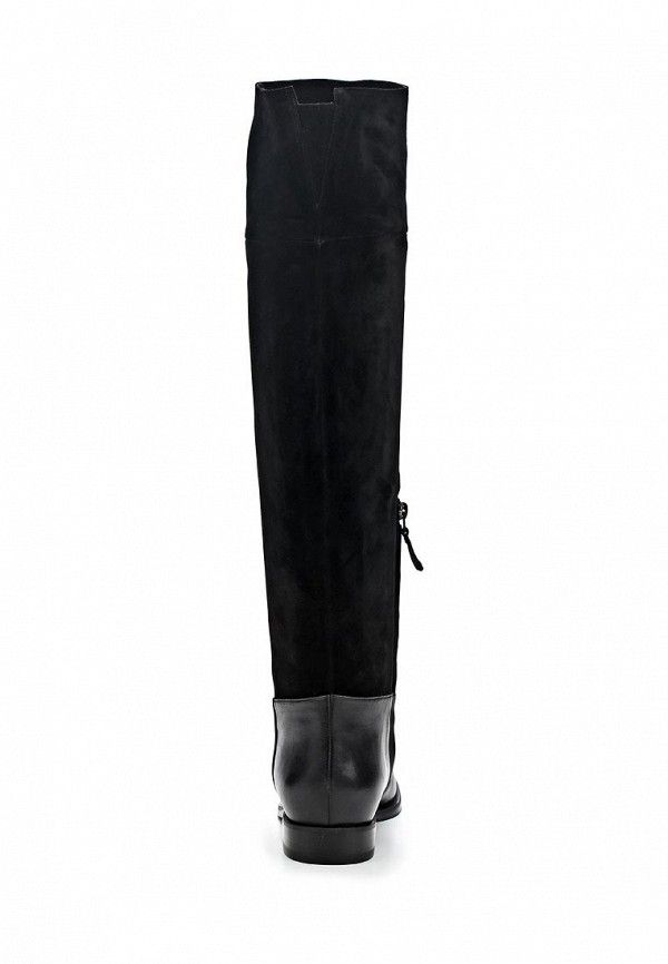 фото Женские сапоги-ботфорты Nando Muzi NA008AWBHL20, черные без каблука