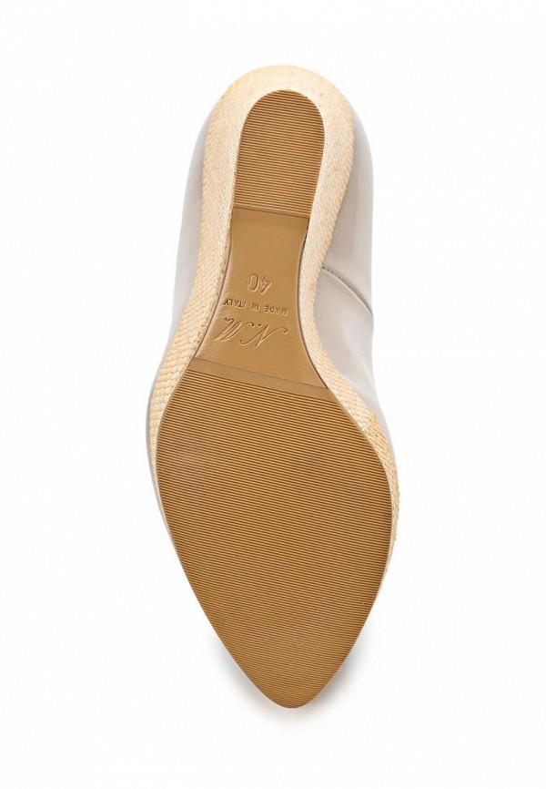 фото Туфли на платформе Nando Muzi NA008AWBHO65, бежевые кожаные