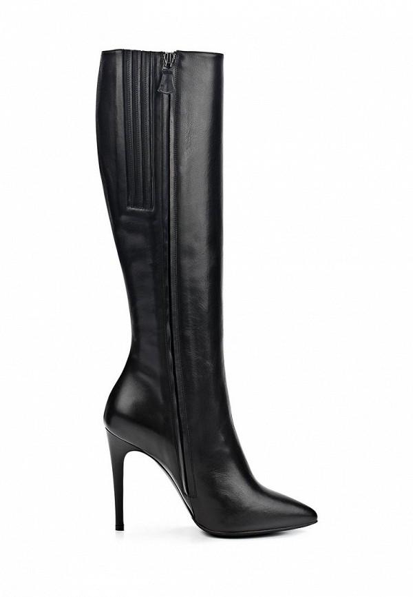 фото Сапоги женские на шпильке Nando Muzi NA008AWCHA28, черные кожаные
