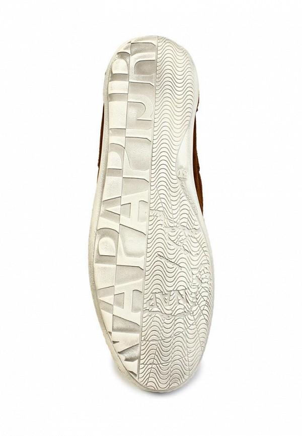 фото Мокасины женские Napapijri NA154AWGK922, коричневые на шнурках