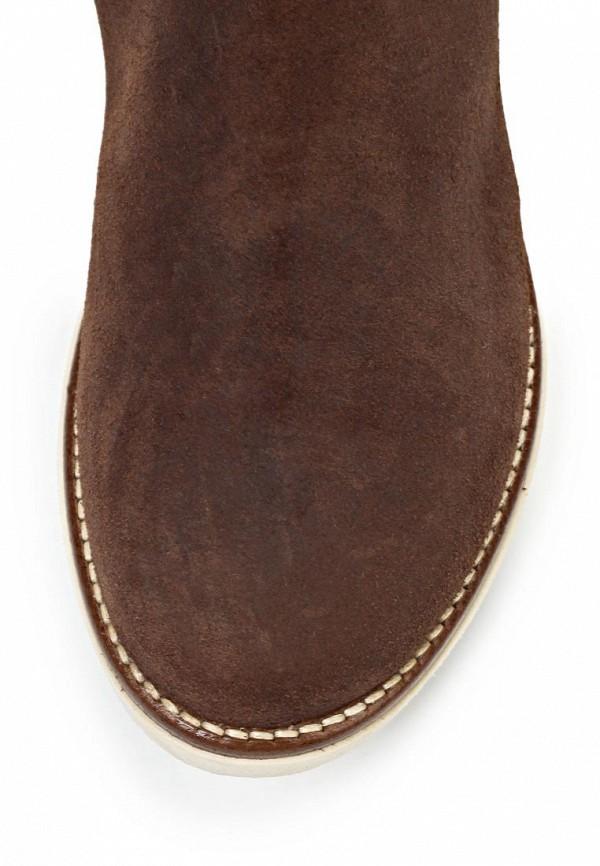 фото Женские полусапожки без каблука Napapijri NA154AWIQ945, коричневые