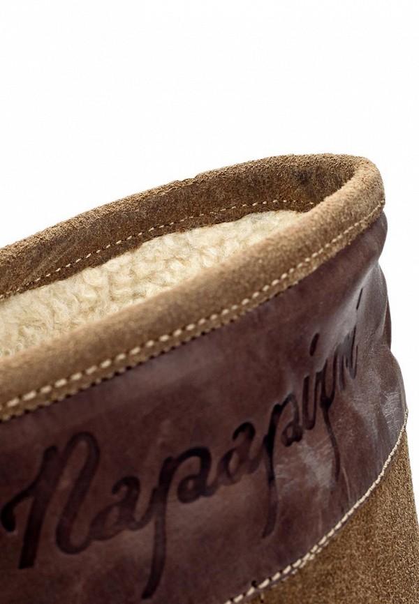 фото Женские полусапоги на плоской подошве Napapijri NA154AWIQ946, коричневые