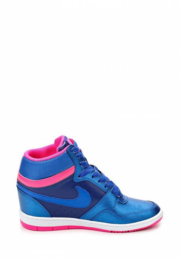 фото Кеды женские на танкетке Nike NI464AWBVK88, голубые/синие