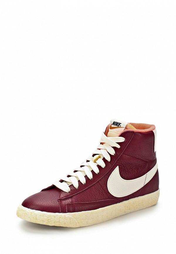 053acb5c8ea6 Кеды женские Nike NI464AWBXG88, темно-красные кожаные