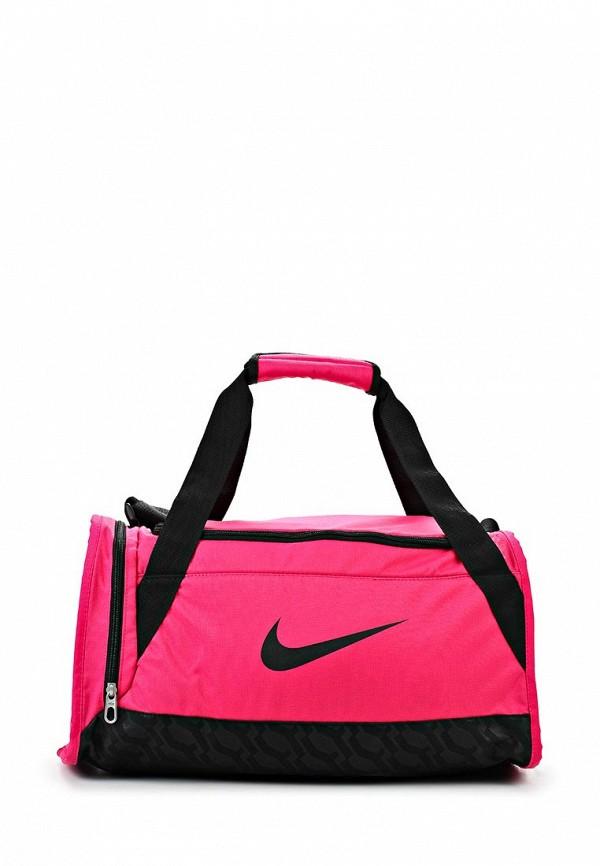 Сумка спортивная Nike / Найк женская.  Цвет: розовый.  Материал: полиэстер.