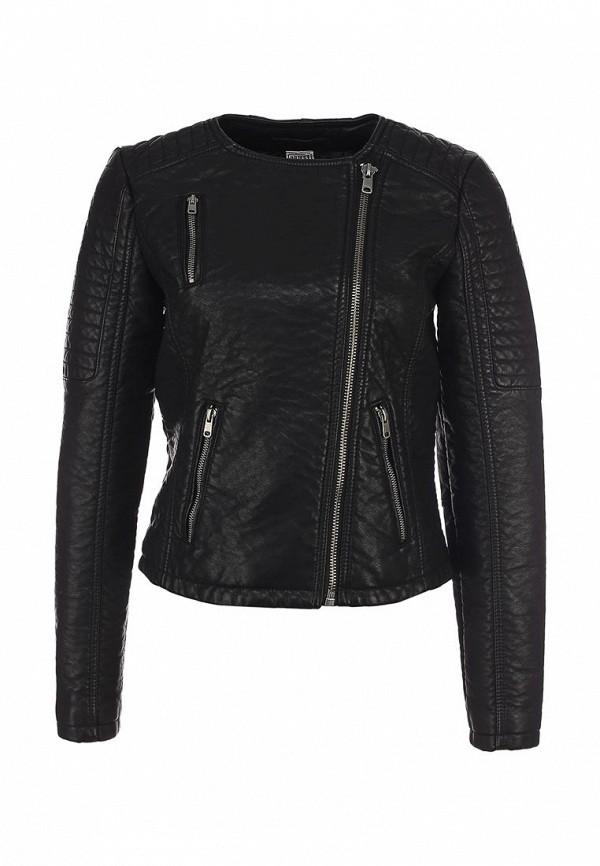 Куртка кожаная Object OB003EWLT512. Цвет: черный