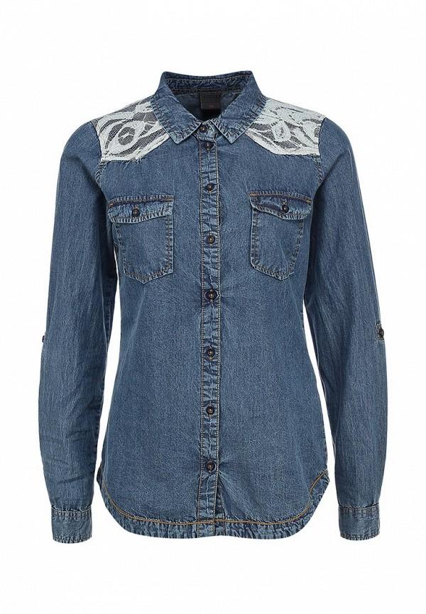 Рубашка джинсовая Object. Цвет: синий