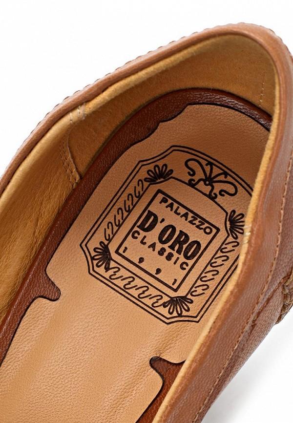 фото Туфли-лоферы на каблуке Palazzo D'oro PA001AWBAG51, коричневые