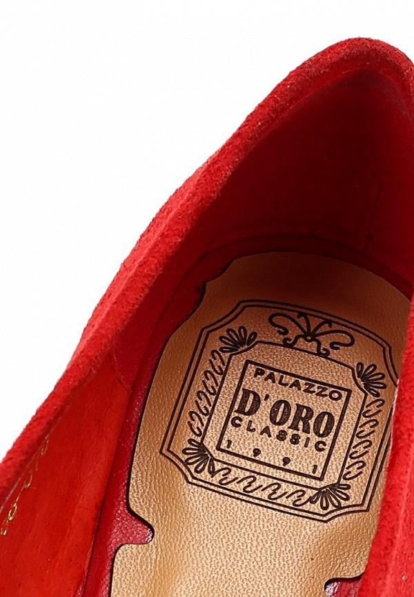 фото Лоферы женские Palazzo D'oro PA001AWBAG77, красные