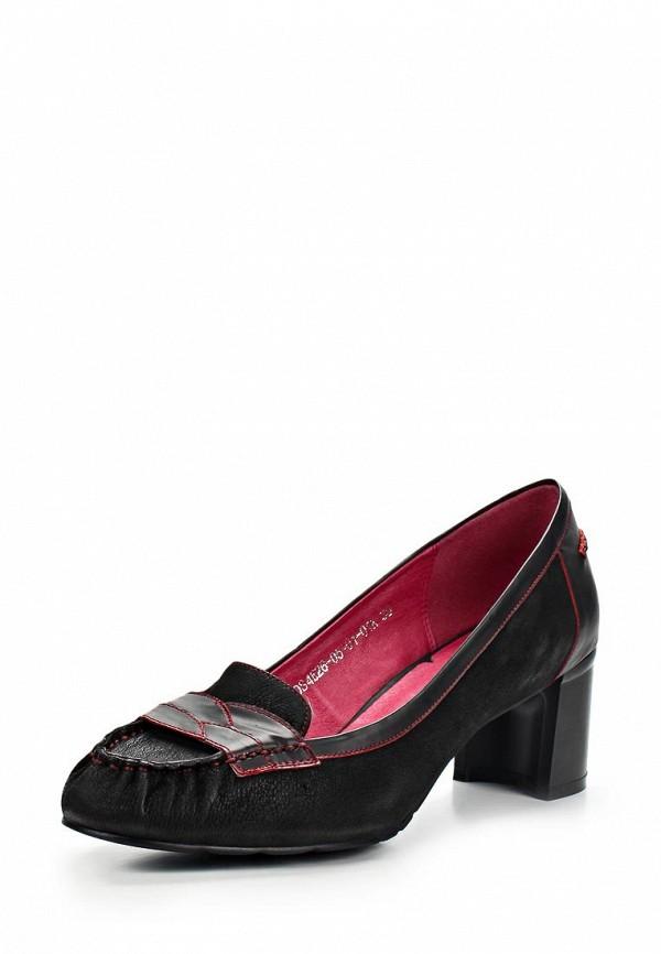 фото Туфли-лоферы на каблуке Palazzo D'oro PA001AWBAG94, черные