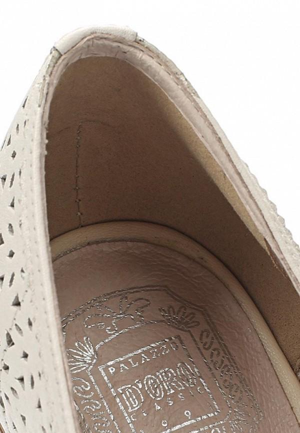 фото Лоферы женские Palazzo D'oro PA001AWBAJ06, белые/каблук