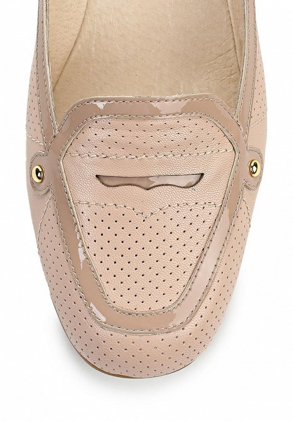 фото Туфли-лоферы Palazzo D'oro PA001AWBAJ17, бежевые на каблуке