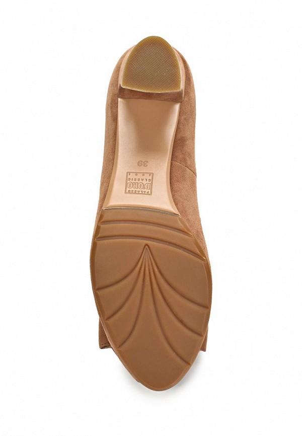 фото Туфли на каблуке с открытым носом Palazzo D'oro PA001AWBAJ91, коричневые