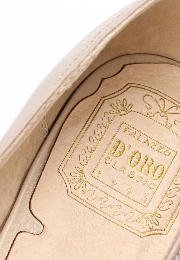 фото Туфли на толстом каблуке Palazzo D'oro PA001AWBAJ92, бежевые кожаные