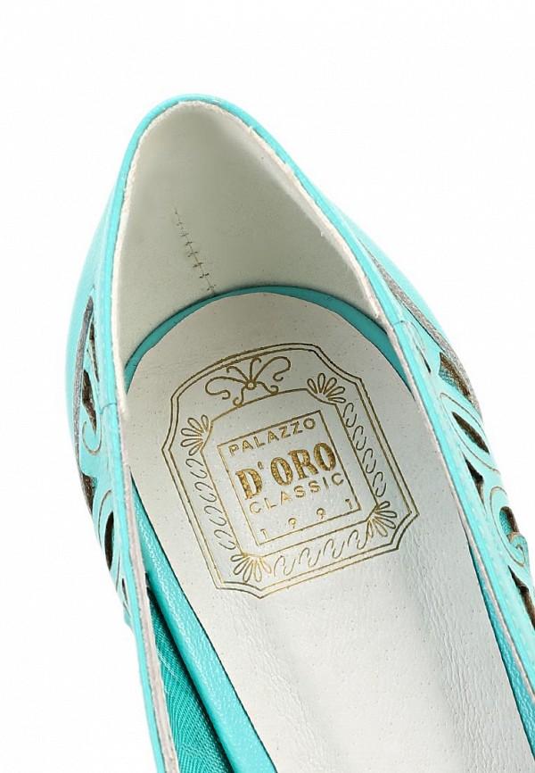 фото Туфли на низком каблуке Palazzo D'oro PA001AWBAK87, бирюзовые