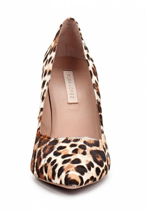 фото Туфли женские на каблуке Pura Lopez PU761AWAMG19, леопардовые