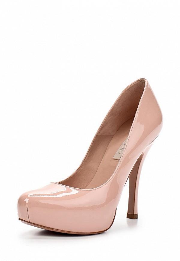 фото Туфли на платформе и каблуке Pura Lopez PU761AWAMG23, розовые лаковые