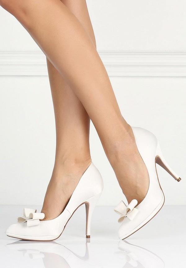 фото Женские туфли на каблуке Pura Lopez PU761AWAMG34, белые кожаные