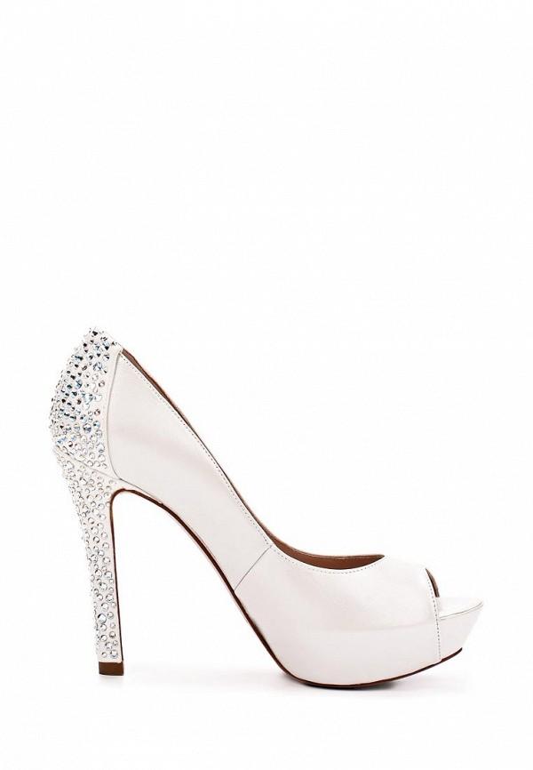 фото Туфли на платформе с открытым носом Pura Lopez PU761AWAMG37, белые/каблук