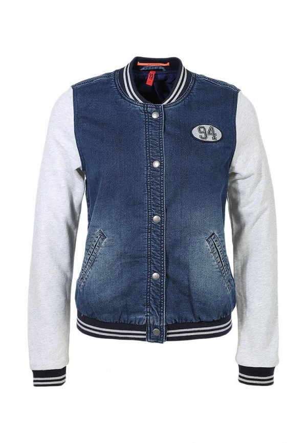 Куртка джинсовая QS by s.Oliver QS002EWAXT29. Цвет: синий