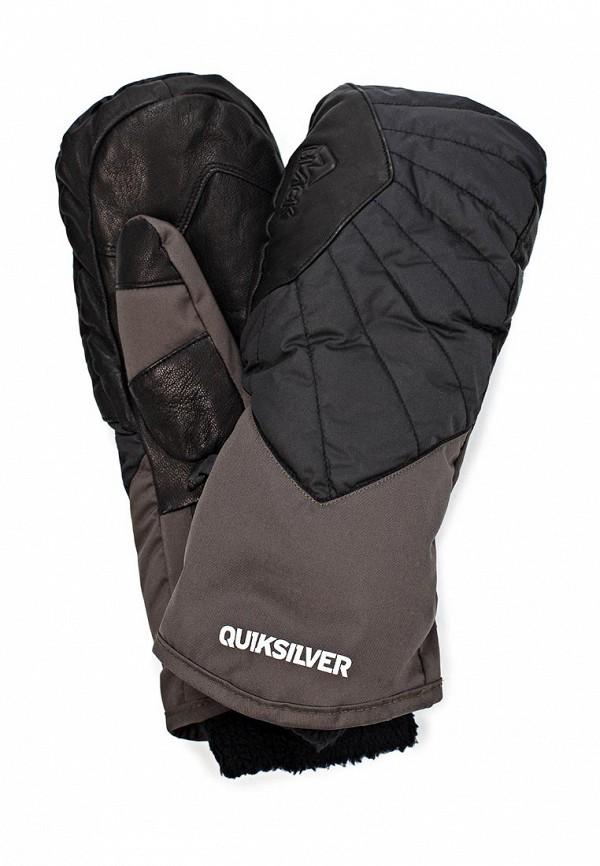 Варежки Quiksilver QU192DMJG049. Цвет: серый, черный