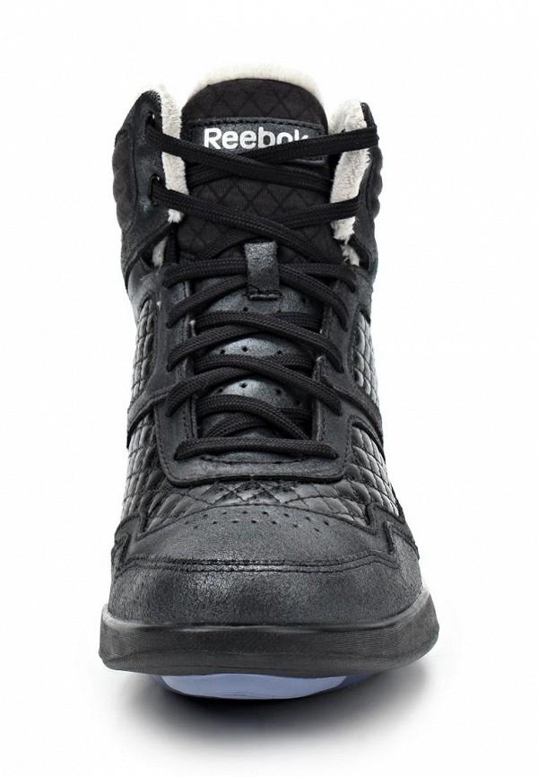 фото Кроссовки женские Reebok RE160AWBZB91, черные высокие