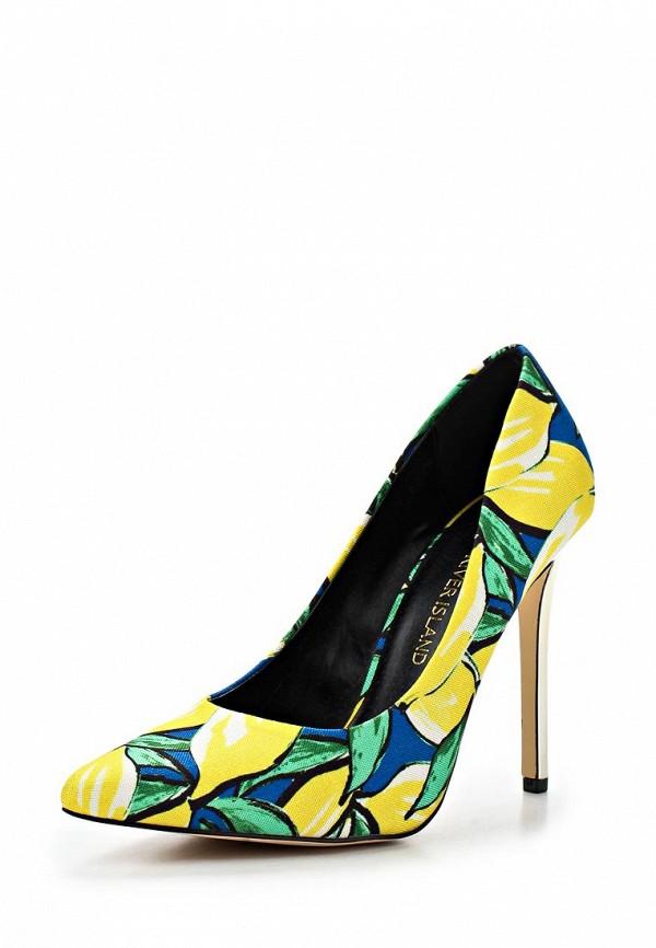 фото Женские туфли на каблуке-шпильке River Island RI004AWLV597, желто-цветные