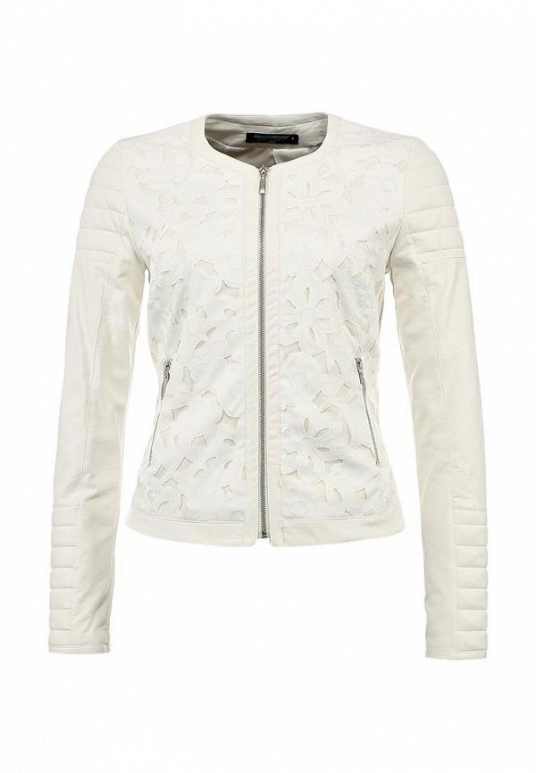 Куртка кожаная Rinascimento RI005EWBEP15. Цвет: белый