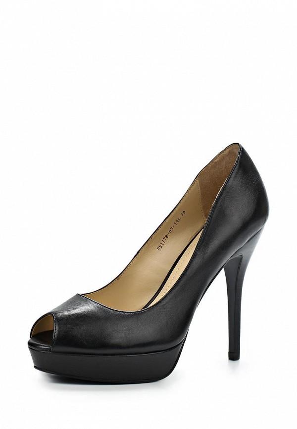фото Туфли на платформе и каблуке RIAROSA RI006AWBFY07, черные кожаные