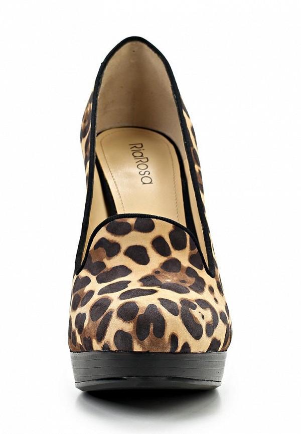 фото Туфли-лоферы на платформе и каблуке RIAROSA RI006AWBFY12, леопардовые