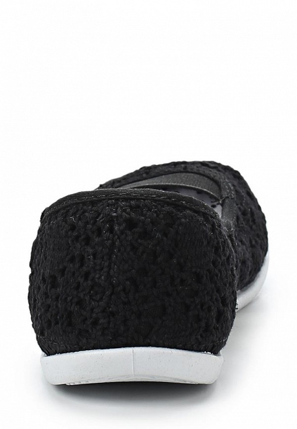 фото Балетки женские Roxy, черные (кружевной текстиль)