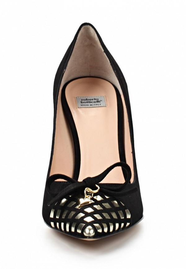 фото Женские туфли на каблуке Roberto Botticelli RO233AWAHX45, черные