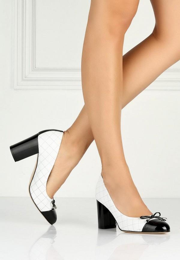 фото Туфли на устойчивом каблуке Roberto Botticelli RO233AWAHX51, черно-белые