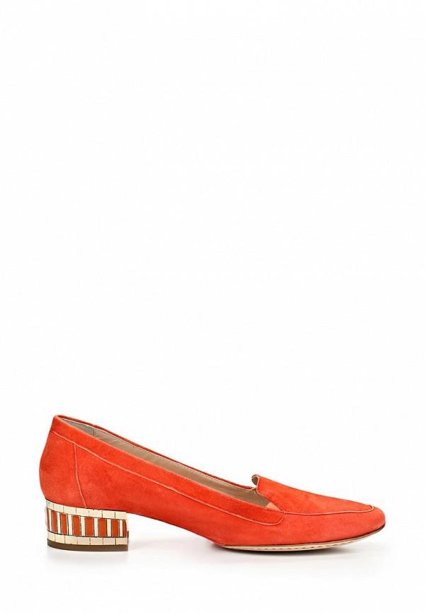 фото Туфли-лоферы на каблуке Roberto Botticelli RO233AWAHX69, оранжевые