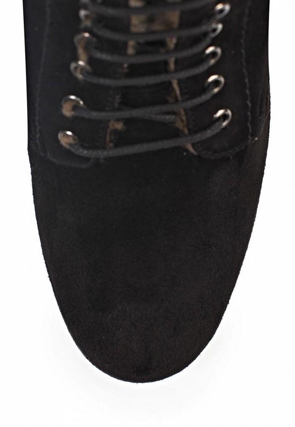 фото Ботильоны на толстом каблуке Samsonite SA001AWIN666, черные на шнурках