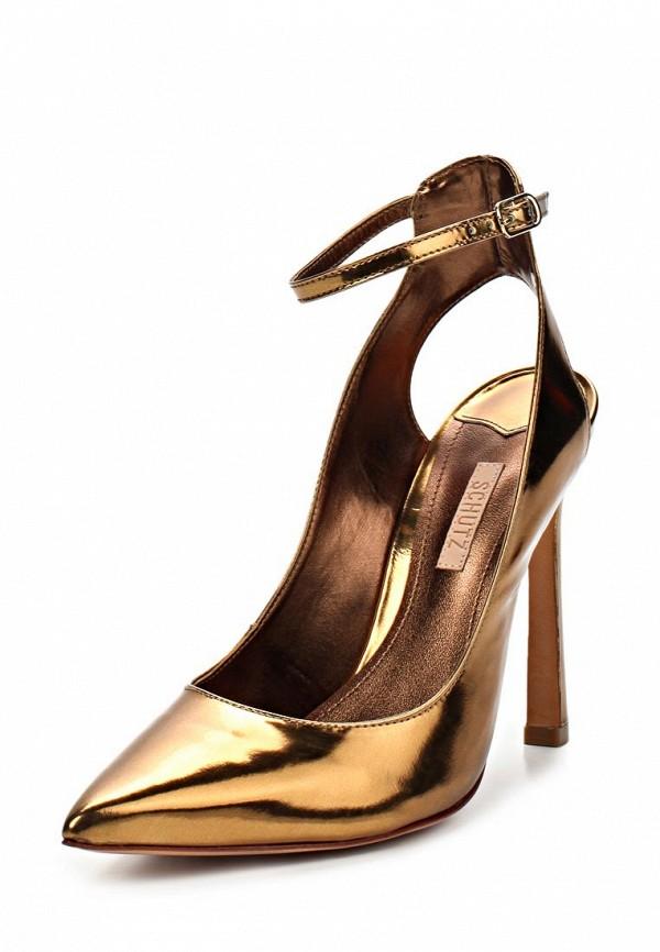 фото Туфли на каблуке Schutz SC963AWBQR92, золотые без задника