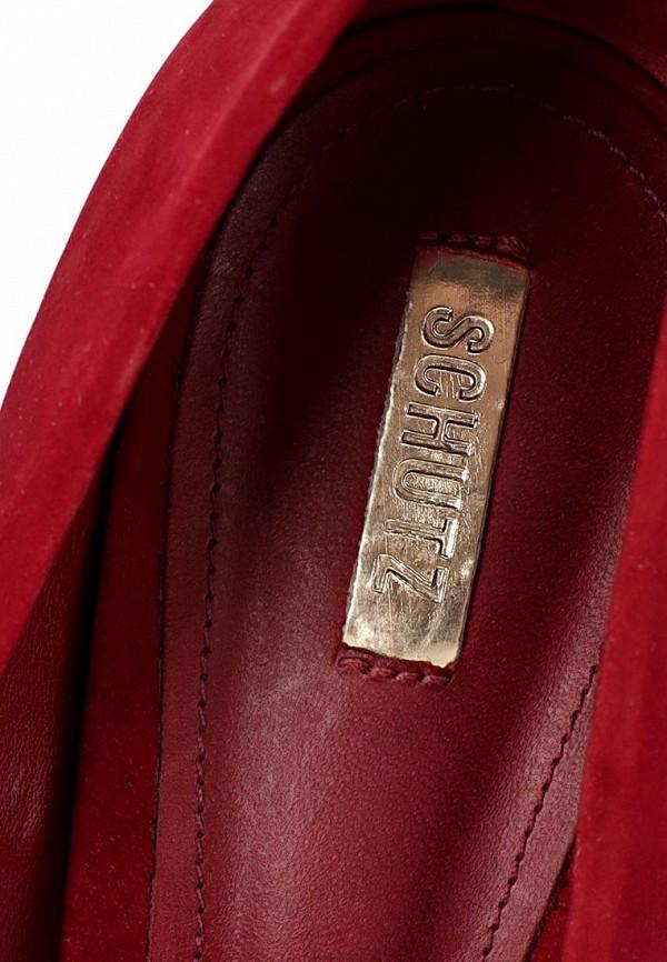 фото Туфли женские на шпильке Schutz SC963AWCMO27, красные замшевые