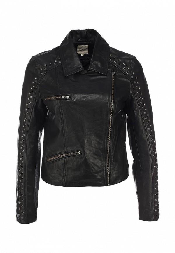 Куртка кожаная Selected Femme SE927EWIQ114. Цвет: черный