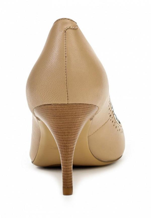 фото Туфли на каблуке с открытым носом Sinta SI293AWBDE10, бежевые (кожа)
