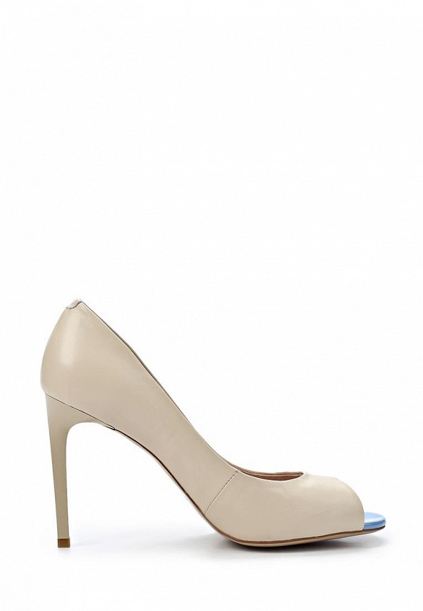 фото Туфли на высоком каблуке Sinta SI293AWBDE11, бежево-голубые (кожа)