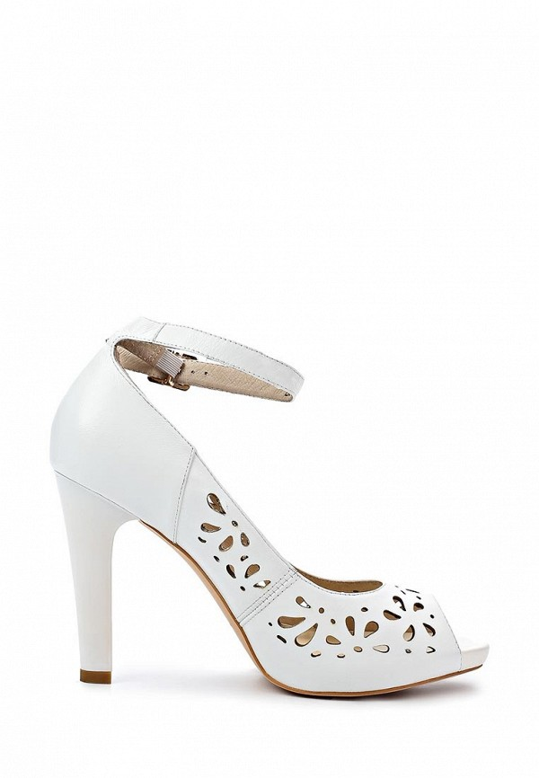 фото Туфли на платформе и каблуке Sinta SI293AWBDE14, белые кожаные