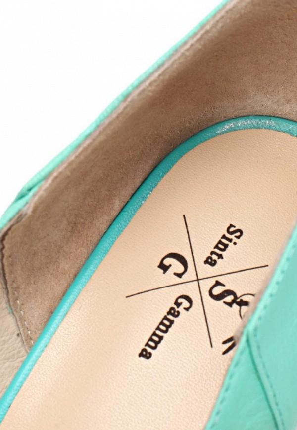 фото Туфли на каблуке Sinta SI293AWBDE15, бирюзовые с открытым носом