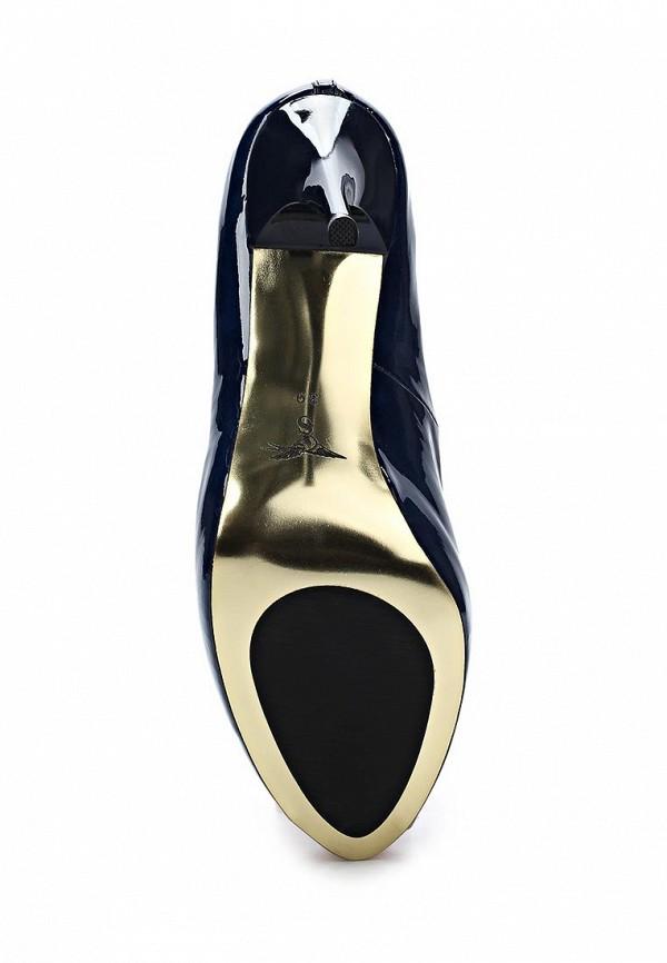 фото Лаковые туфли на платформе и каблуке Sinta SI293AWBDE20, синие кожаные