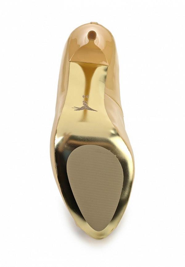 фото Туфли на платформе и каблуке Sinta SI293AWBDE21, бежевые (кожа, лак)